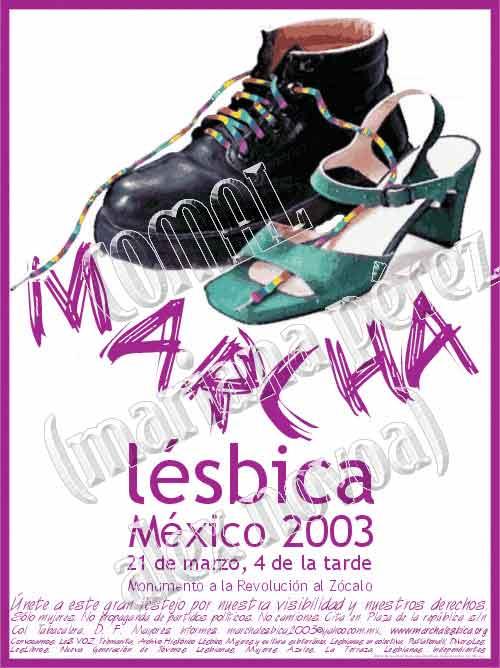 1ª Marcha Lésbica de México 2003